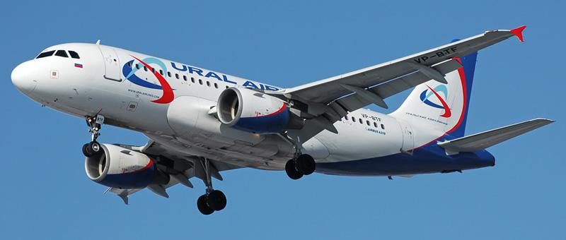 Airbus A319-1001 Уральские авиалинии