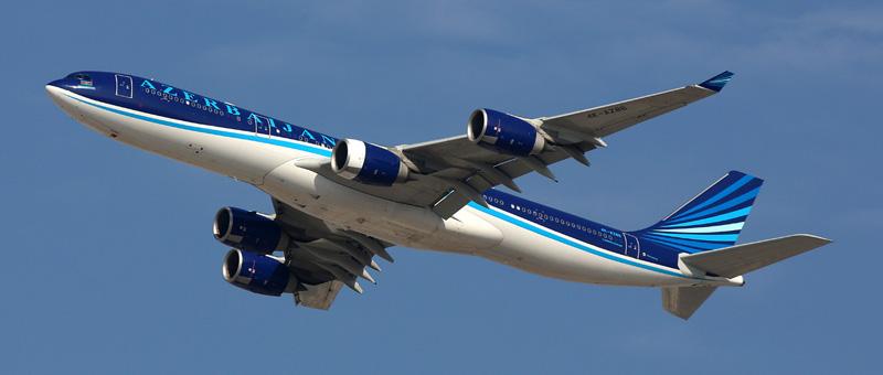 Airbus A340-542 Азербайджанские авиалинии
