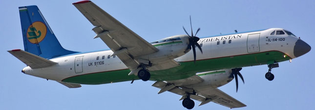 ИЛ-114 Узбекские авиалинии