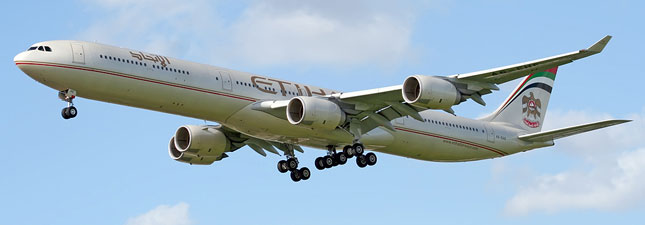 Airbus A340-600 Etihad Airways