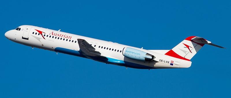 Fokker 100 Австрийские авиалинии