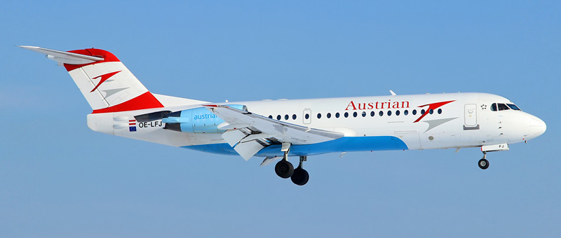 Fokker 71 Австрийские авиалинии