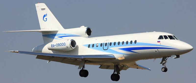 Dassault Falcon 900B Газпромавиа