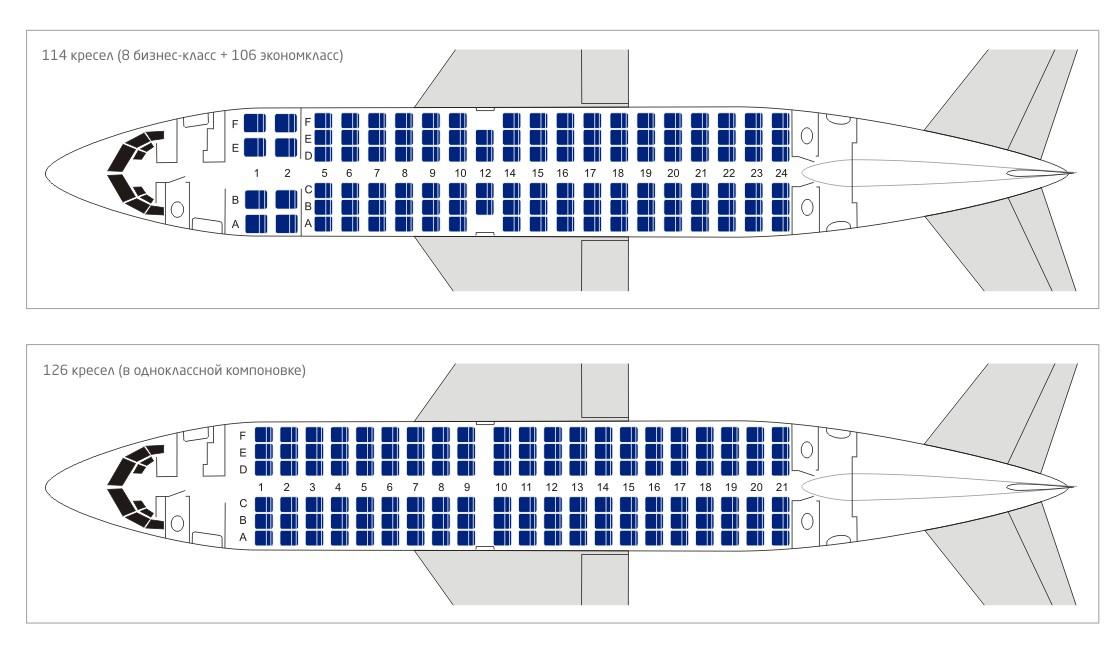 Компоновка boeing 737-500 Utair