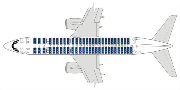 Схема салона B737-800 Utair