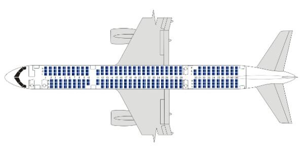 Компоновка boeing 757-200 - Utair