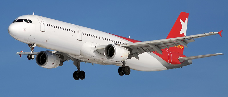 Схема салона Airbus A321- Nordwind Airlines