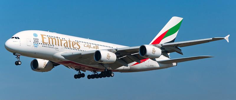 Схема салона Airbus А380-800 — Emirates