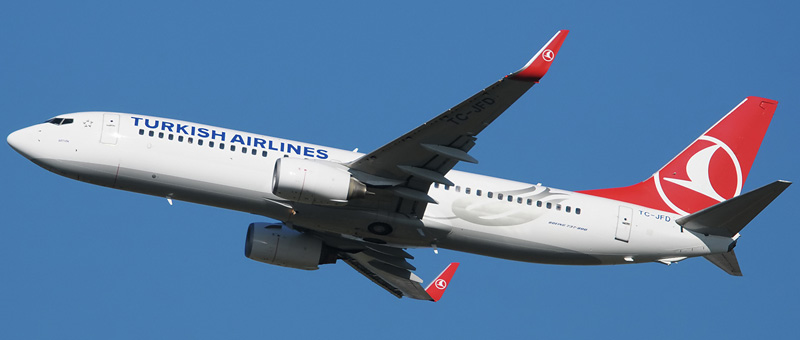 Схема салона Boeing 737-800 — Turkish Airlines