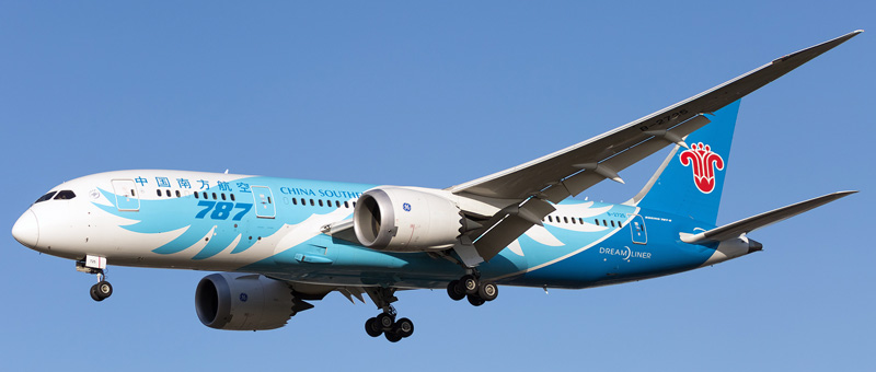 boeing 787-8 dreamliner china southern airlines