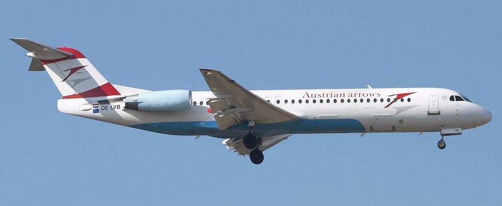 Схема салона Fokker 100 — Austrian Airlines