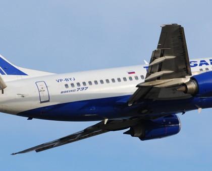 Схема салона Boeing 737-500 Трансаэро