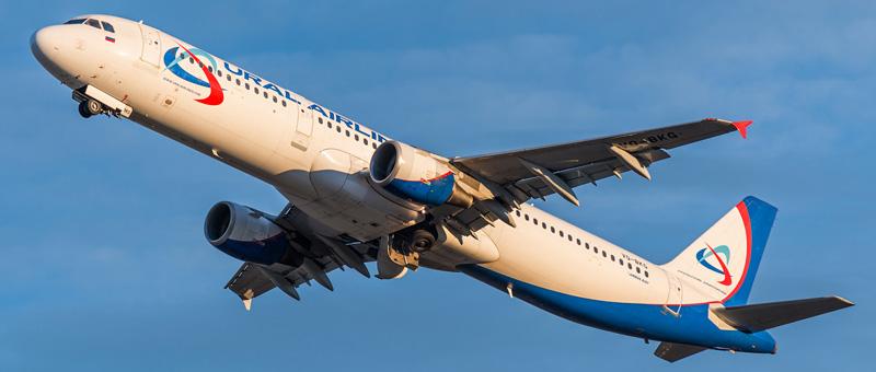 Схема салона и лучшие места в самолете Airbus A321- Ural Airlines.